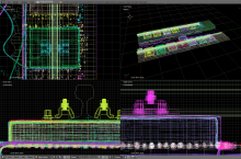 Screenshot of the Tube project with color wireframes